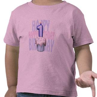 1r Cumpleaños de la magdalena del cumpleaños Camiseta