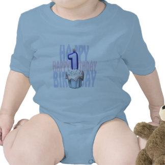 1r Cumpleaños de la magdalena del cumpleaños Trajes De Bebé