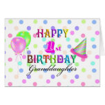 1r cumpleaños de la nieta tarjetas