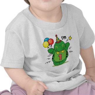 1r cumpleaños de la tortuga feliz camisetas