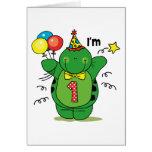 1r cumpleaños de la tortuga feliz tarjetón
