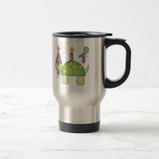 1r cumpleaños de la tortuga tazas