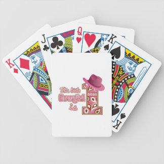 1r cumpleaños de la vaquera barajas de cartas