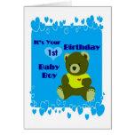 1r cumpleaños de los bebés tarjeta