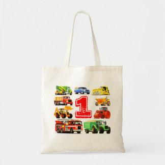 1r cumpleaños de los camiones grandes bolsas de mano