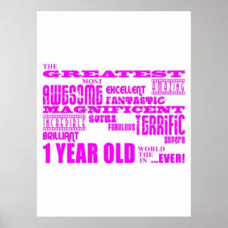1r cumpleaños de los chicas: De 1 año más grande r Impresiones