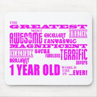 1r cumpleaños de los chicas De 1 año más grande r Alfombrillas De Ratones