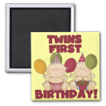 1r cumpleaños de los gemelos - camisetas y regalos imán