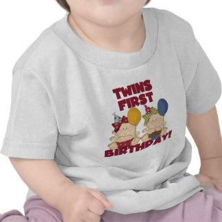 1r cumpleaños de los gemelos - camisetas y regalos