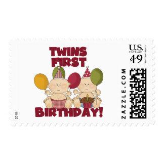 1r cumpleaños de los gemelos - camisetas y regalos franqueo