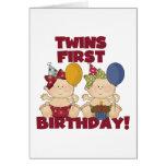 1r cumpleaños de los gemelos - camisetas y regalos felicitaciones