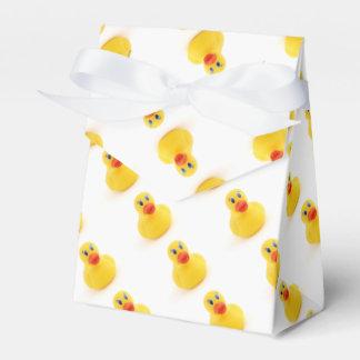 1r cumpleaños de los patos amarillos del caucho cajas para regalos