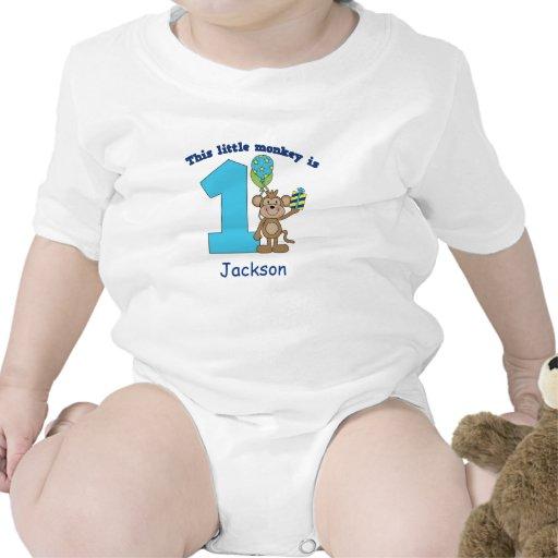 1r cumpleaños de los pequeños niños del mono perso camisetas