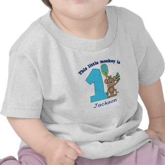 1r cumpleaños de los pequeños niños del mono camisetas