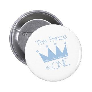 1r cumpleaños de príncipe Crown Pin