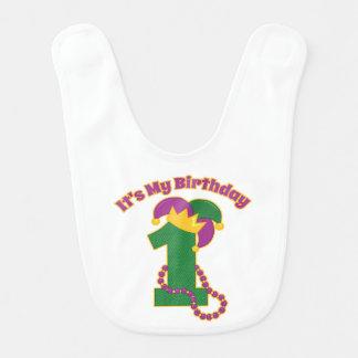 1r cumpleaños del carnaval babero para bebé