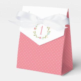 1r cumpleaños del chica floral de la guirnalda paquetes de regalo