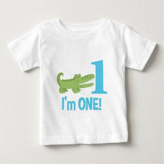 1r cumpleaños del cocodrilo soy UNA camiseta Playera Para Bebé