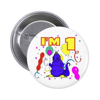 1r Cumpleaños del dinosaurio del cumpleaños Pin