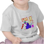1r Cumpleaños del dinosaurio del cumpleaños Camiseta