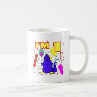 1r Cumpleaños del dinosaurio del cumpleaños Taza