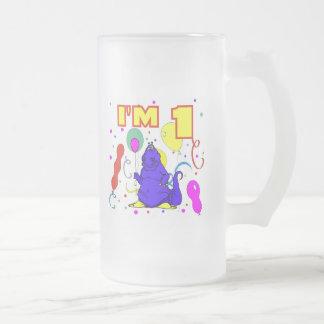 1r Cumpleaños del dinosaurio del cumpleaños Tazas