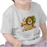1r cumpleaños del león lindo camiseta