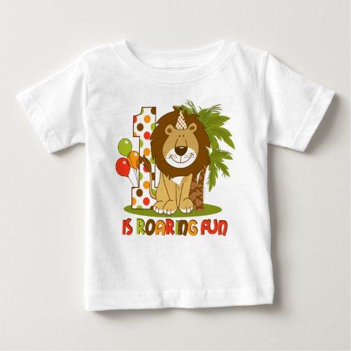 1r cumpleaños del león lindo remeras