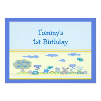 """1r cumpleaños del muchacho invitación 5"""" x 7"""""""
