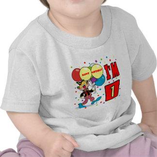 1r Cumpleaños del payaso del cumpleaños Camisetas
