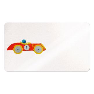 1r cumpleaños del pequeño del automóvil tarjetas de visita
