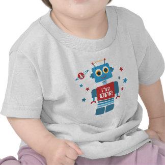 1r cumpleaños del robot camisetas