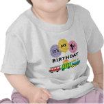 1r Cumpleaños del tren del cumpleaños Camiseta