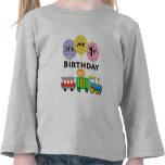 1r Cumpleaños del tren del cumpleaños Camisetas