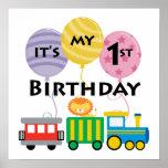 1r Cumpleaños del tren del cumpleaños Impresiones