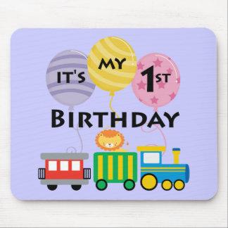 1r Cumpleaños del tren del cumpleaños Mousepads
