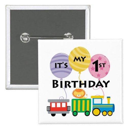 1r Cumpleaños del tren del cumpleaños Pin