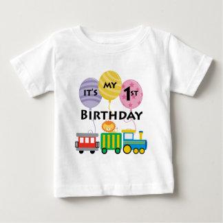 1r Cumpleaños del tren del cumpleaños Playera De Bebé