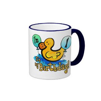 1r cumpleaños Ducky Tazas