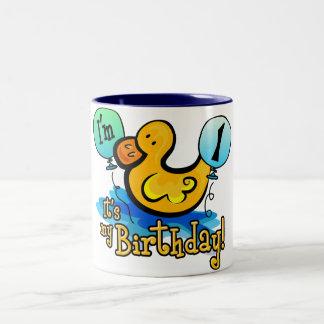 1r cumpleaños Ducky Tazas De Café