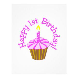 1r cumpleaños feliz membretes personalizados