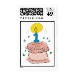 ¡1r cumpleaños feliz! sellos