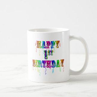 1r cumpleaños feliz - taza del cumpleaños