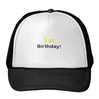 1r Cumpleaños Gorras De Camionero