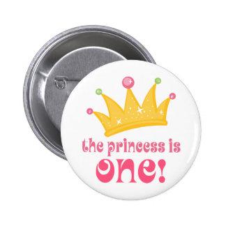 1r cumpleaños lindo el regalo de princesa Is uno Pin Redondo 5 Cm