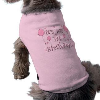 1r Cumpleaños Playera Sin Mangas Para Perro