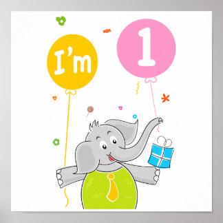 1r Cumpleaños soy 1 año Posters