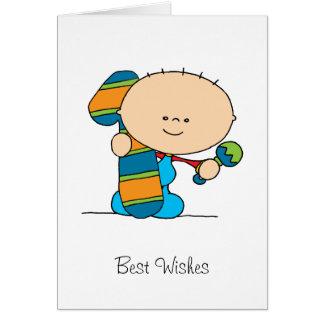 1r cumpleaños - tarjeta de felicitaciones - muchac