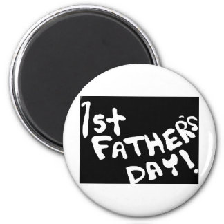 1r Día de padres Imán Redondo 5 Cm
