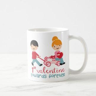 1r Día de San Valentín junto Taza Clásica